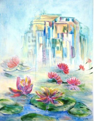 ציורי אקריליק, ציורי אומנות אוריגינליים, ציור פרחים
