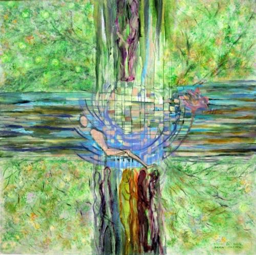 ציורי אקריליק אוריגינליים והדפסי קנבס, ציורי מיסטיקה, ציורי יודאיקה, ונהר יוצא מעדן