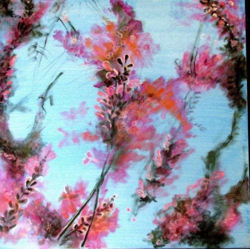 ציור אקריליק, ציור פרחים, סייג', ציורים אוריגינליים