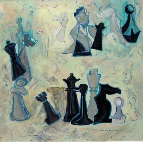 ציור אקריליק, תרבות הפנאי, משחק המלכים שחמט יצרות אוריגינליות