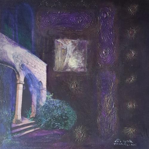 ציור מופשט, ציור בטכניקה מעורבת, ציור אקריליק עם קולאג', ציורי אור, יורי רוחניות, ציורי מיסטיקה